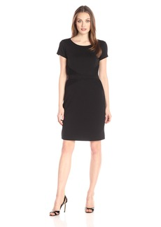 Ellen Tracy Women's Short Sleeved Ponte T Shirt Dress