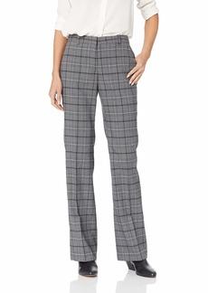 ELLEN TRACY Women's Signature Trouser Texas Glen Plaid/b/W