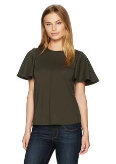 Ellen Tracy Women's Size Flounce Sleeve Top  Petite Medium
