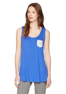 ELLEN TRACY Women's Sleep Tank Top with Lace  XL