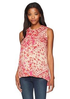 ELLEN TRACY Women's Sleeveless 2-Pocket Shirt  L