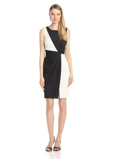 ELLEN TRACY Women's Sleeveless Color Block Dress