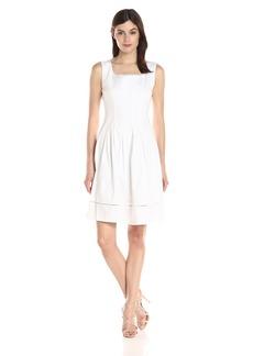 Ellen Tracy Women's Sleeveless Drop Waist Dress