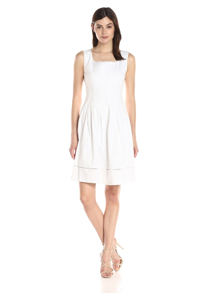 Ellen Tracy Women's  Sleeveless Drop Waist Dress