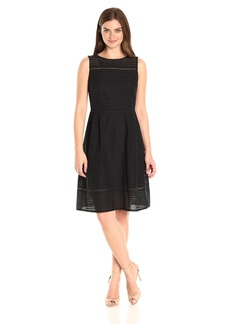 Ellen Tracy Women's Sleeveless Eyelet Dress