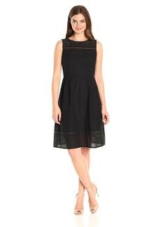 ELLEN TRACY Women's Sleeveless Eyelet Dress