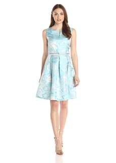 Ellen Tracy Women's Sleeveless Fit-and-Flare Dress