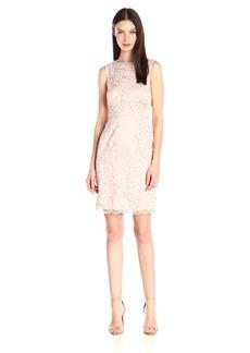 Ellen Tracy Women's Sleeveless Lace Sheath Dress