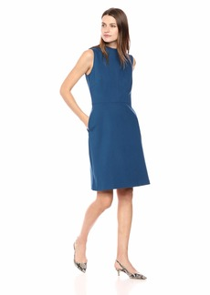 ELLEN TRACY Women's Sleeveless Mock Neck Dress  M