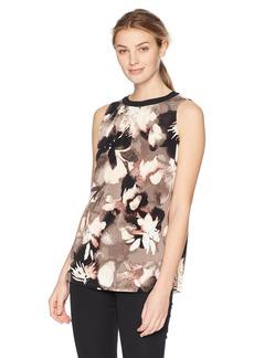 ELLEN TRACY Women's Sleeveless Top with Smocking  XL