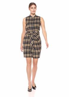 ELLEN TRACY Women's Sleevless Tie Front Shirtdress  S