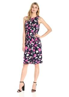 Ellen Tracy Women's Smocked Self-Tie Dress  M