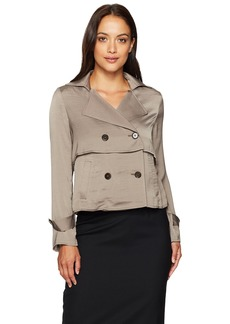 Ellen Tracy Women's Soft Cropped Trench