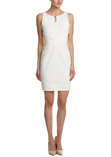 ELLEN TRACY Women's Solid Ponte Dress with Detail