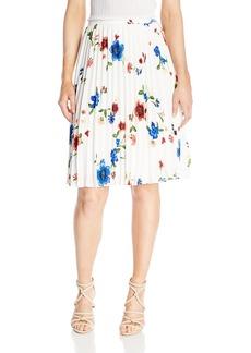 ELLEN TRACY Women's Sunburst Pleat Skirt