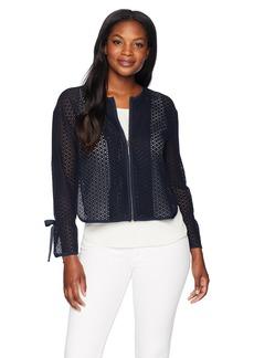 ELLEN TRACY Women's Textured Short Jacket  M