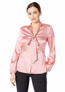 ELLEN TRACY Women's Tie Front Blouse  L