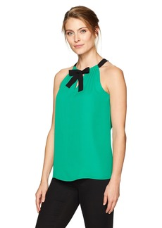 ELLEN TRACY Women's Tie Neck Halter  XS