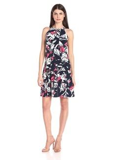 Ellen Tracy Women's Tiered Knit Halter Dress