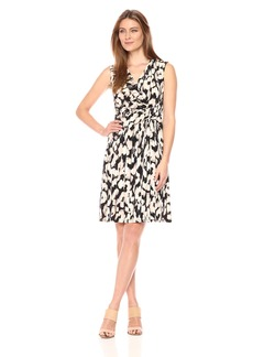 ELLEN TRACY Women's Twist Front Dress  Petite Large