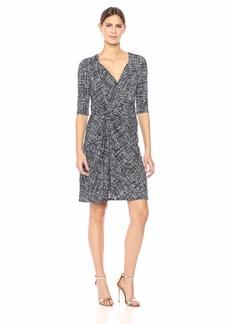 ELLEN TRACY Women's Twisted Front Dress  M