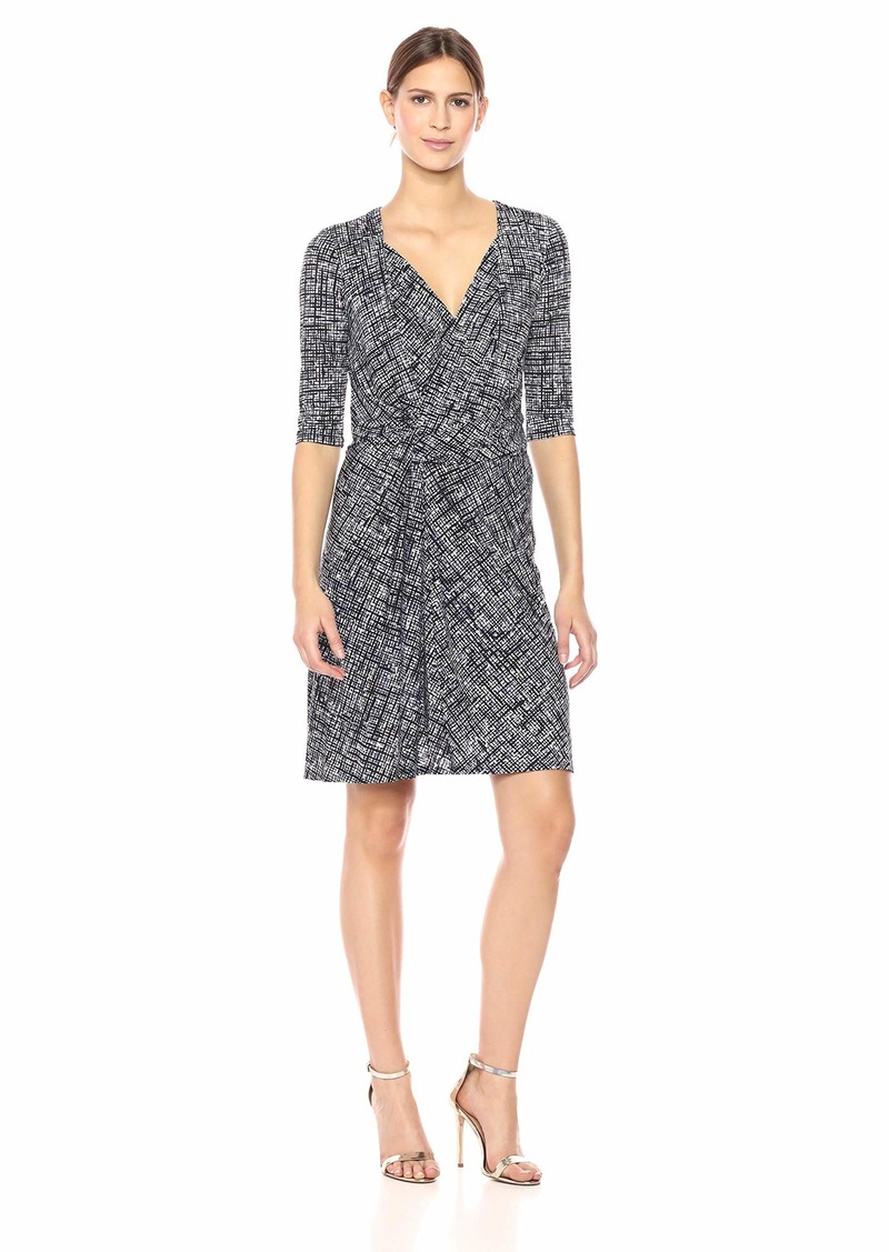 ELLEN TRACY Women's Twisted Front Dress  M