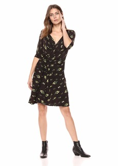 ELLEN TRACY Women's Twisted Front Dress Rustic BOUQT/Multi M
