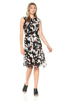 ELLEN TRACY Women's Twisted Front Dress  XL
