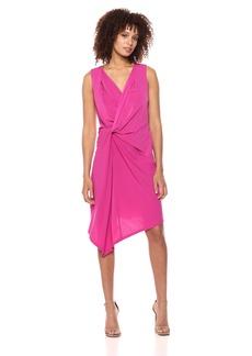 ELLEN TRACY Women's Twisted Front Sleeveless Dress  M