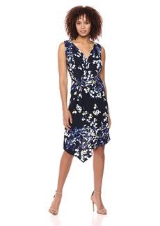 ELLEN TRACY Women's Twisted Front Sleeveless Dress  S