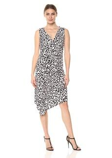ELLEN TRACY Women's Twisted Front Sleeveless Dress  L