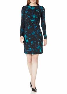 ELLEN TRACY Women's Twisted Waist Dress  M