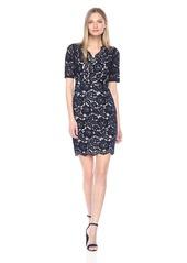 ELLEN TRACY Women's V Neck Lace Dress