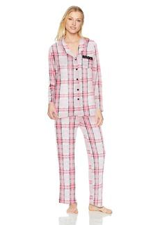 Ellen Tracy Women's Velour Pajama Set  L