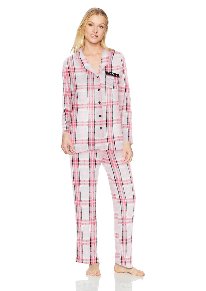 ELLEN TRACY Women's Velour Pajama Set  L