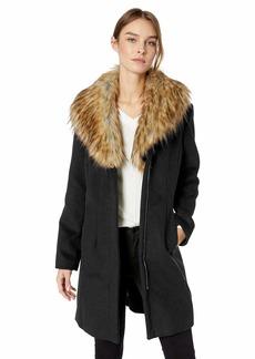 ELLEN TRACY Women's Zip Front Coat  L