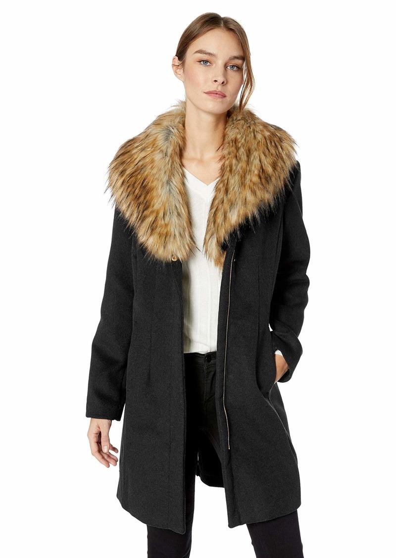 ELLEN TRACY Women's Zip Front Coat  S