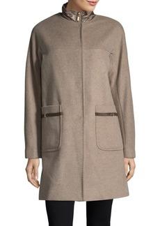 Ellen Tracy Wool Blend Topper Coat