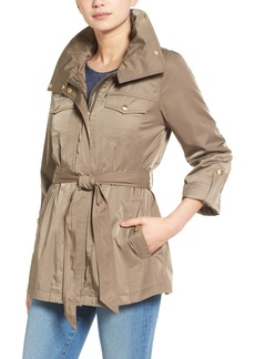 Ellen Tracy Zip Utility Trench Coat