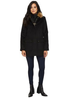 Ellen Tracy Faux Wool Twill Coat