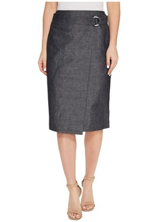 Ellen Tracy Faux Wrap Belted Skirt