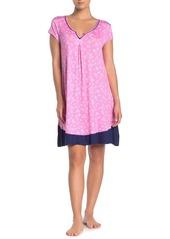 Ellen Tracy Floral Ruffle Hem Nightgown