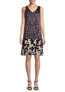 Ellen Tracy Floral Shift Dress