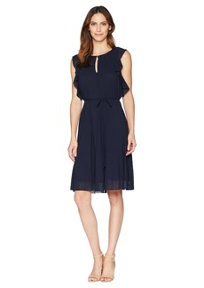Ellen Tracy Flouncy Sleeve Dress