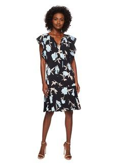 Ellen Tracy Flouncy Sleeve Dress