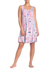 Ellen Tracy Ikat Lace Paneled Nightgown