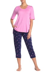 Ellen Tracy Jersey Knit PJ Set