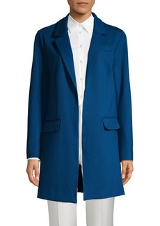 Ellen Tracy Notch-Lapel Open-Front Jacket