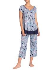 Ellen Tracy Paisley Jersey Knit PJ Pants