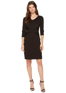 Ellen Tracy Ponte Career Dress with Sleeves